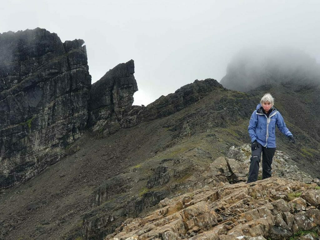 On the ridge on the Cuillins