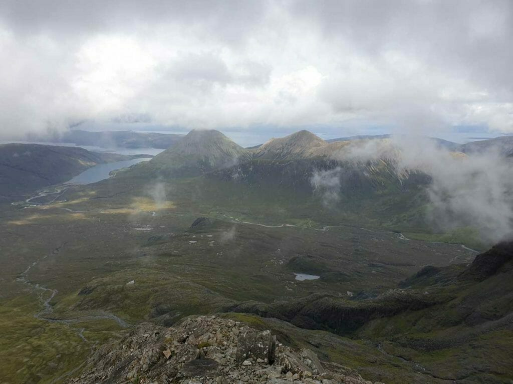 The view from the Cuillins for what to see on Skye