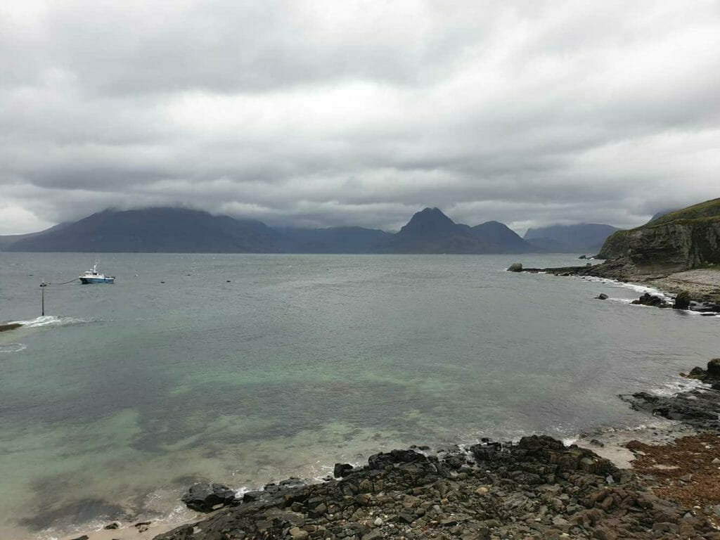 View across loch to the Cuillins