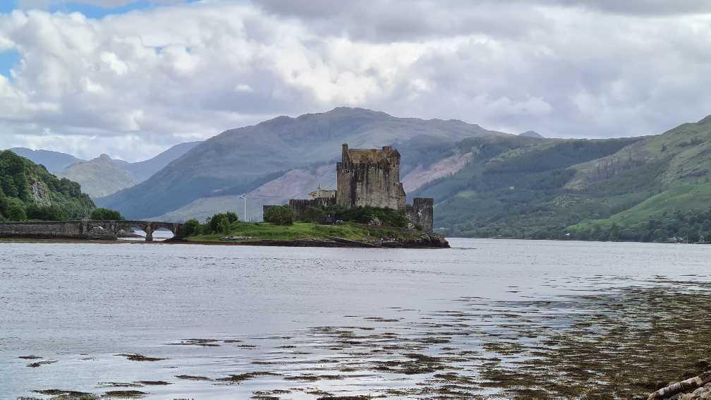 Eilean Donan castle on the road to Skye