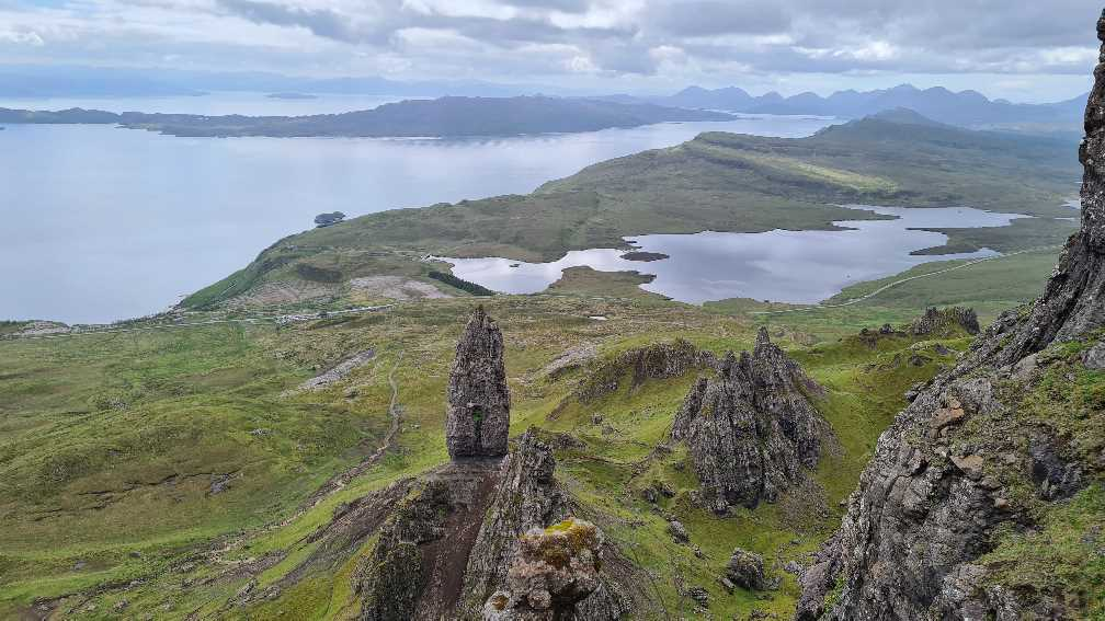 Looking down on the Old Man of Storr