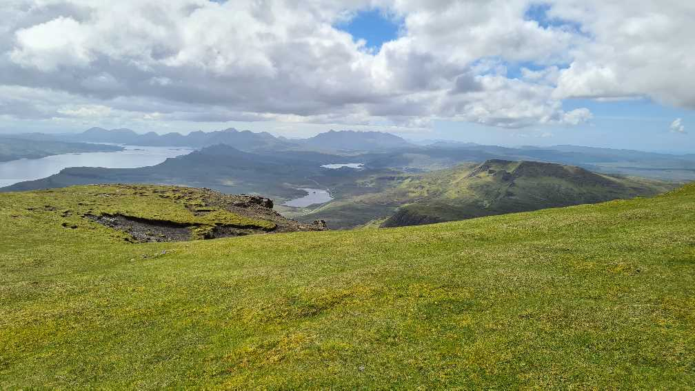 On top of The Storr, one of the best hikes on the Isle of Skye
