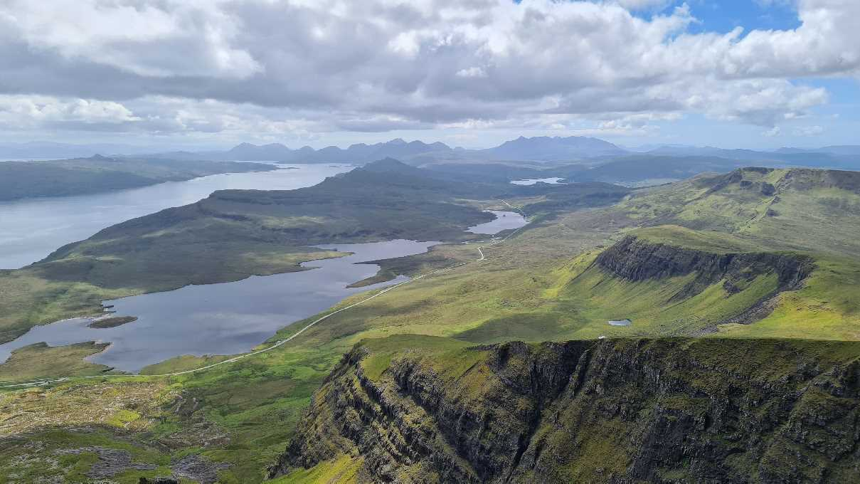 View from the top of The Storr over to the Cuillins