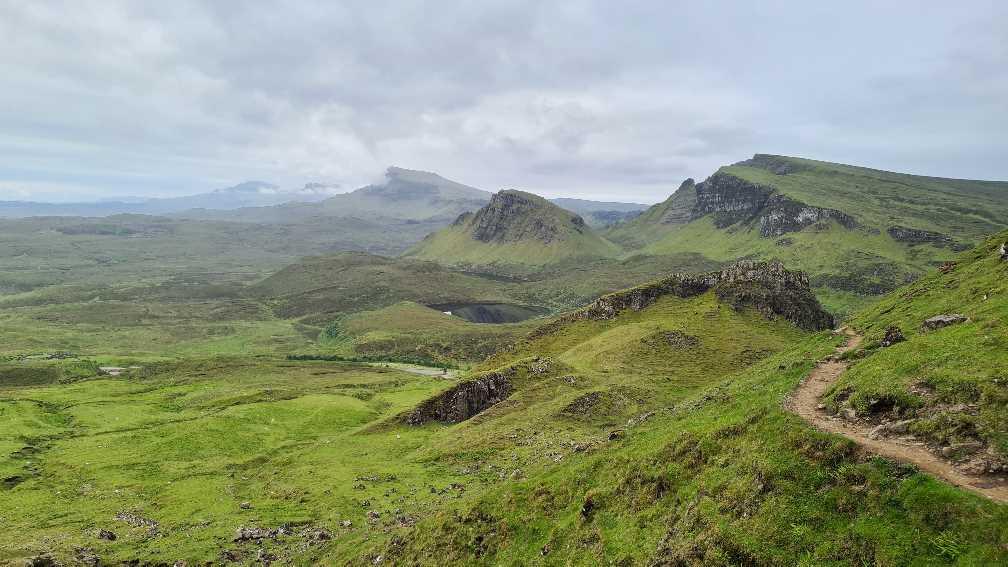 Hiking trail on Skye - the Quiraing