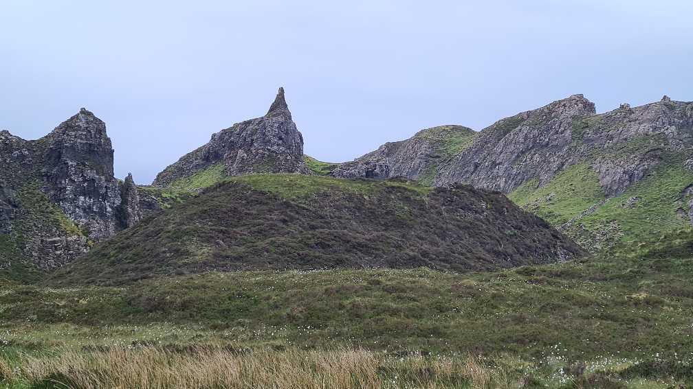 Rocky terrain on The Quiraing