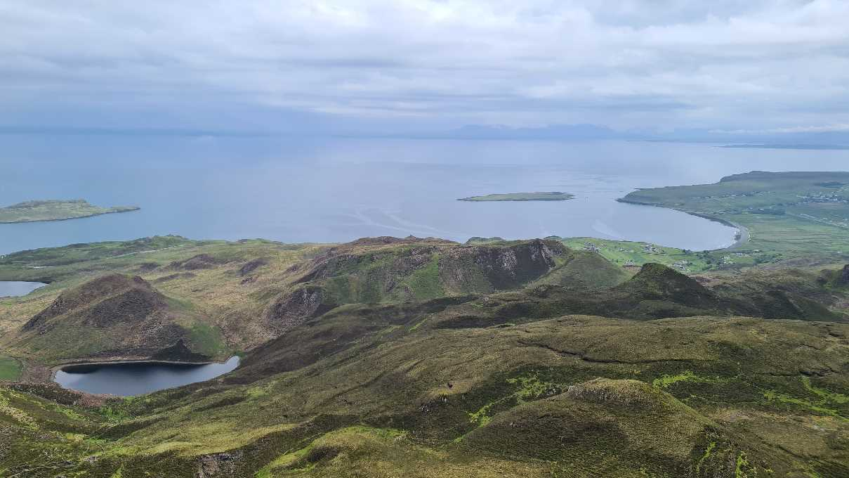 View over the coast on the Isle of Skye