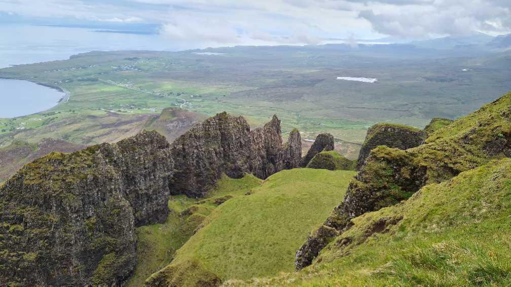 Rocky terrain when hiking on the Isle of Skye
