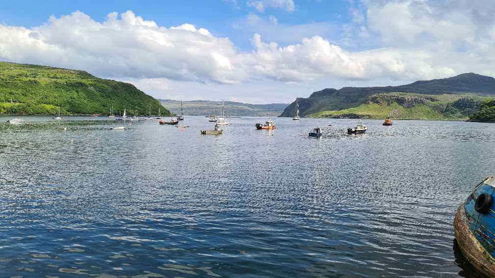 View over the harbour in Portree