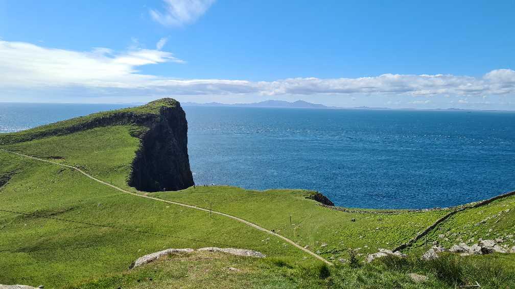 Neist Point on the Isle of Skye in Sunshine
