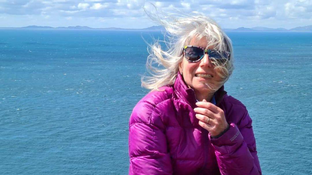 Jane at Neist Point on Skye
