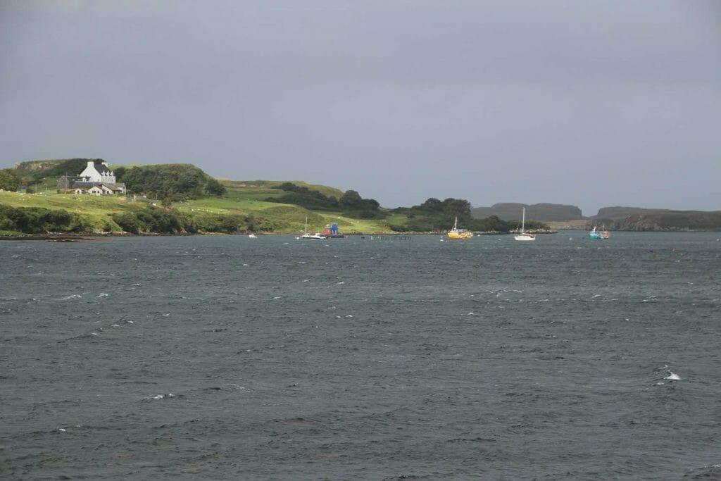 View across loch