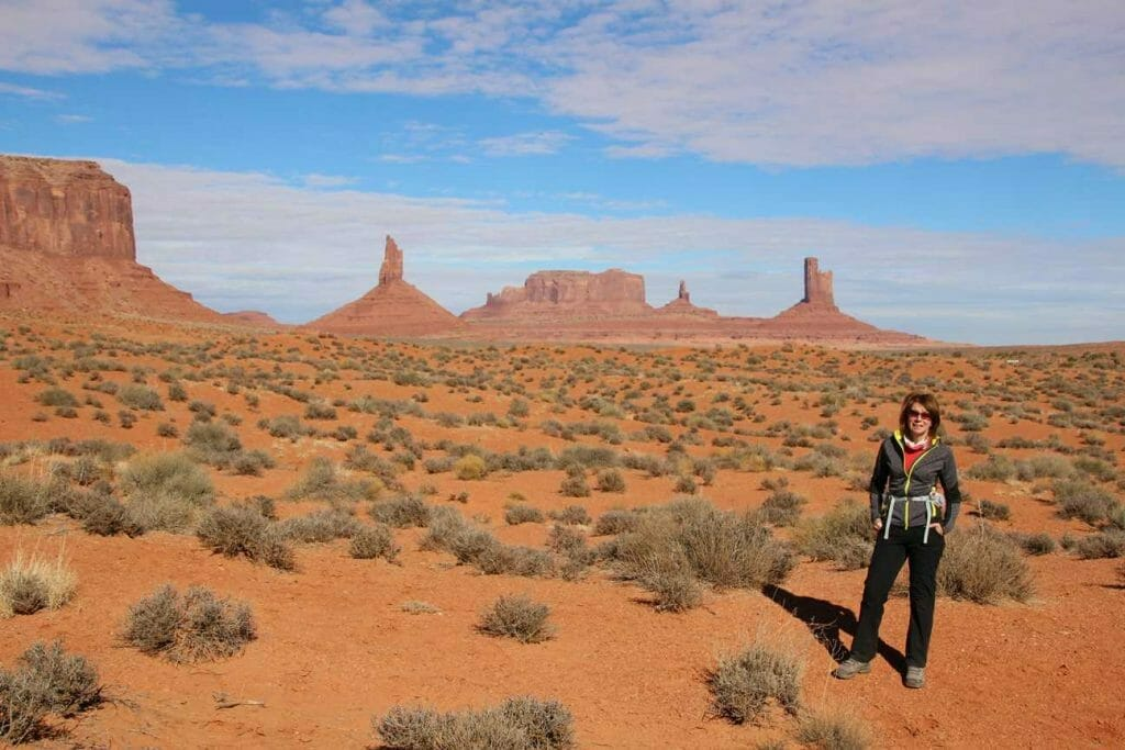 Jane in the iconic Monument Valley landscape