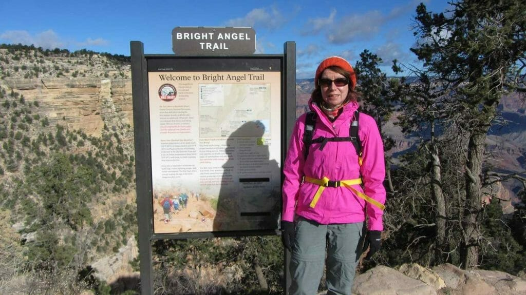 At the start of the one of the unforgettable hikes in the US, the Bright Angel Trail