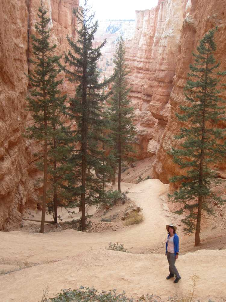 On the trail in Bryce Canyon