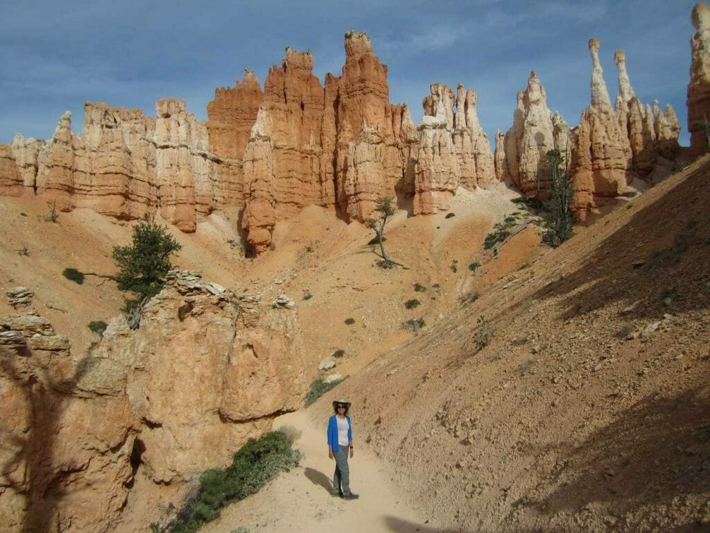 In amongst the hoodoos in Bryce Canyon