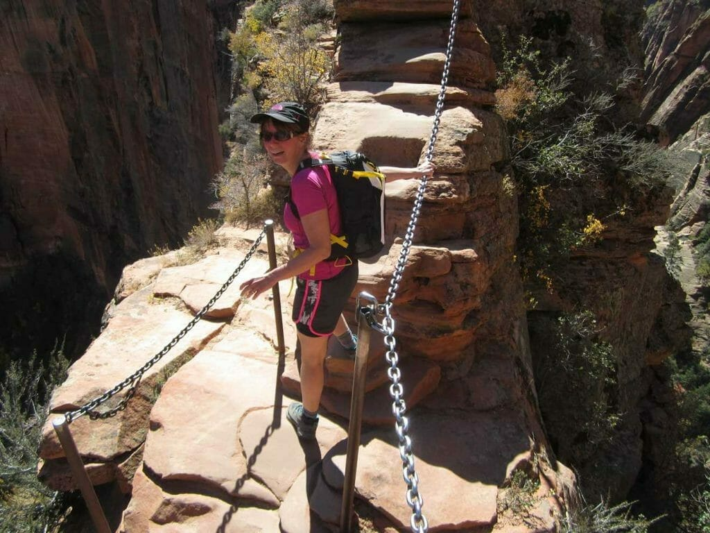 On Angels Landing, one of the most unforgettable hikes in the US