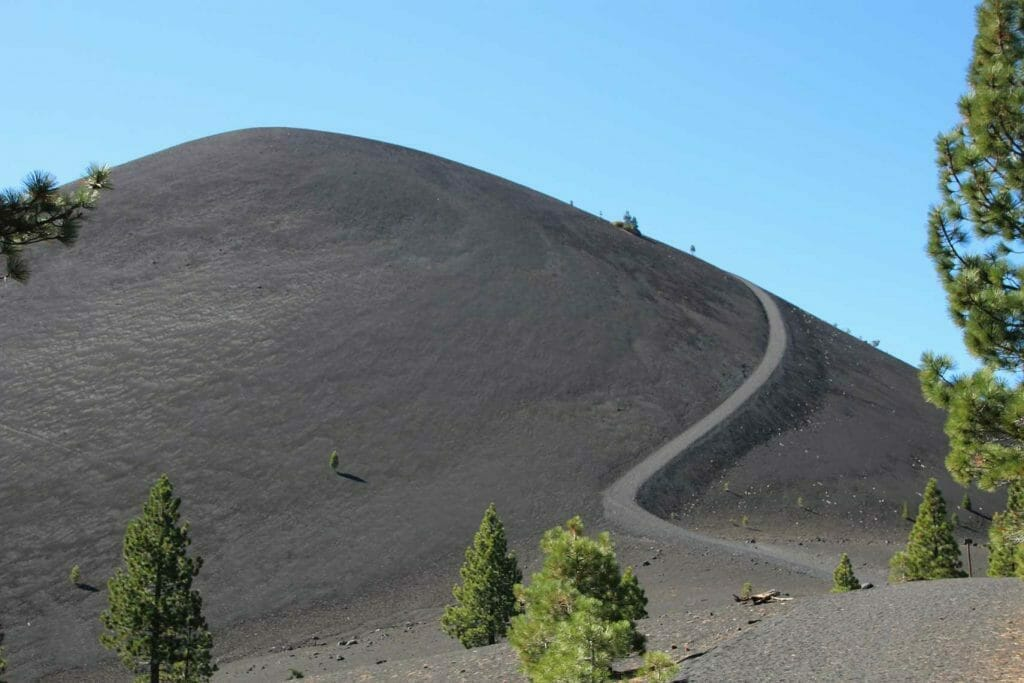 The cinder cone in Lassen Volcanic National Park, another unforgettable hike in the US