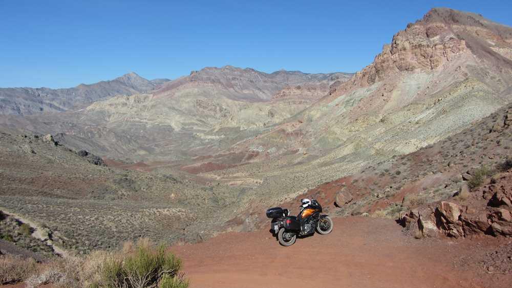 Exploring Death Valley by motorbike