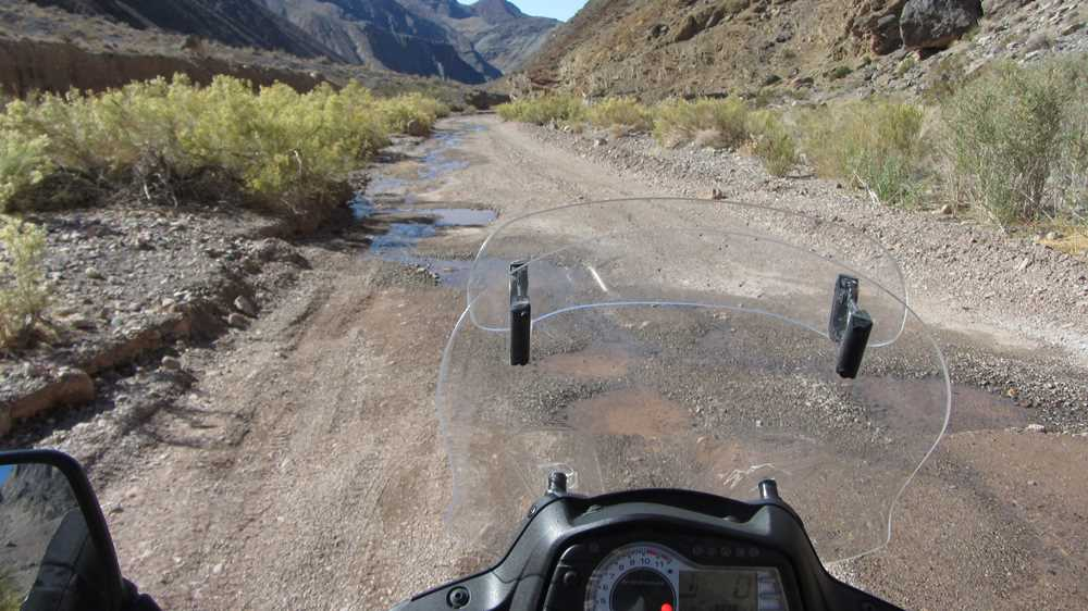 Driving through Titus Canyon in Death Valley