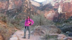 On the trail in the Grand Canyon