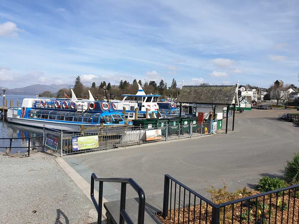 Boats at the jetties in Bowness