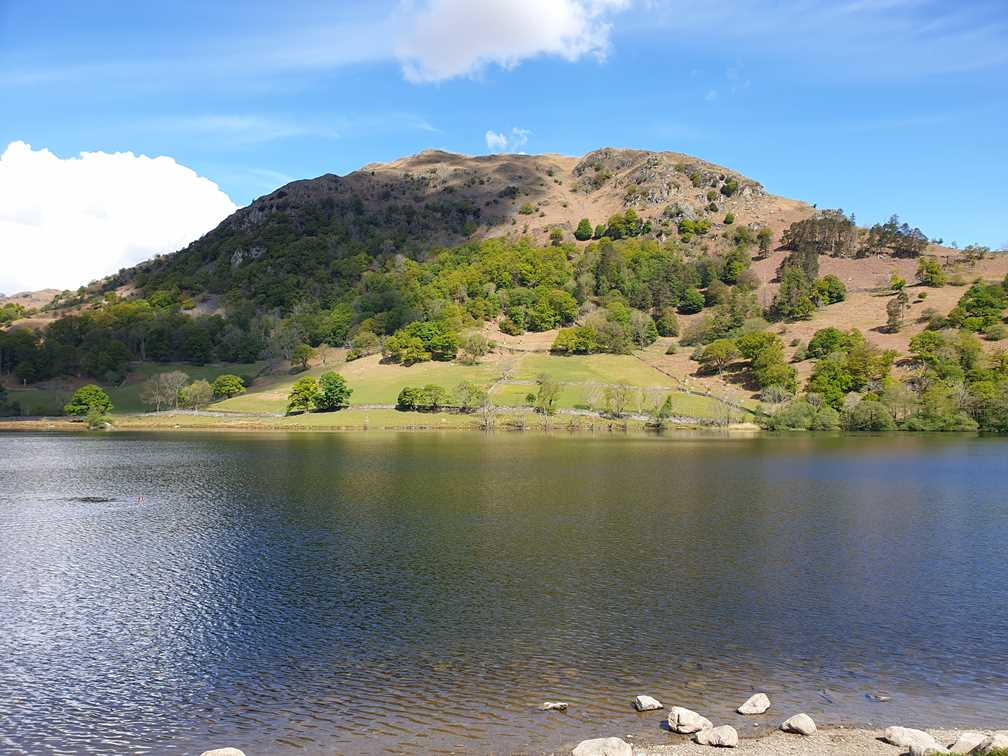 Along the side Rydal water an easy walk in the Lake District