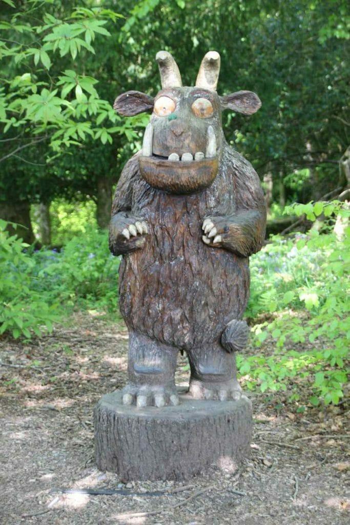Sculpture of the Gruffalo on the Orrest Head walk