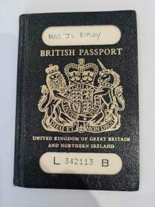 British passport from my first trip abroad