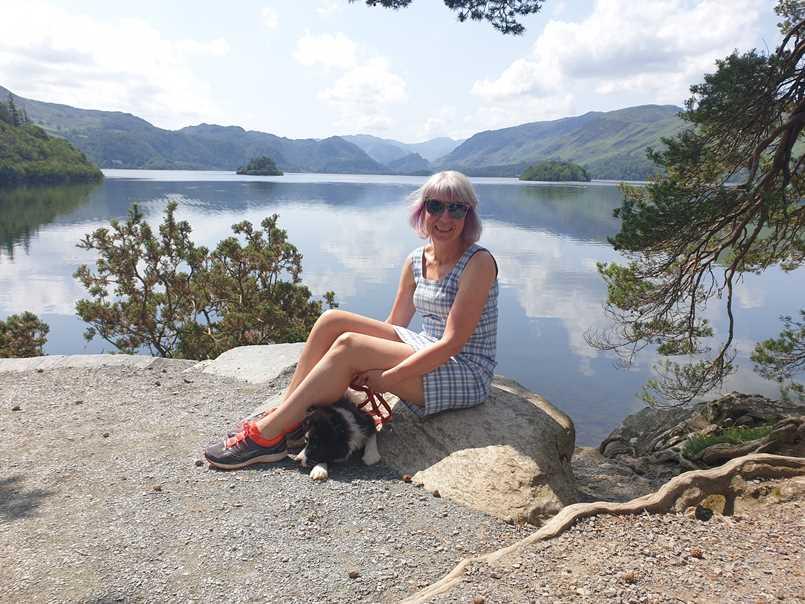 Sitting at Friars Crag