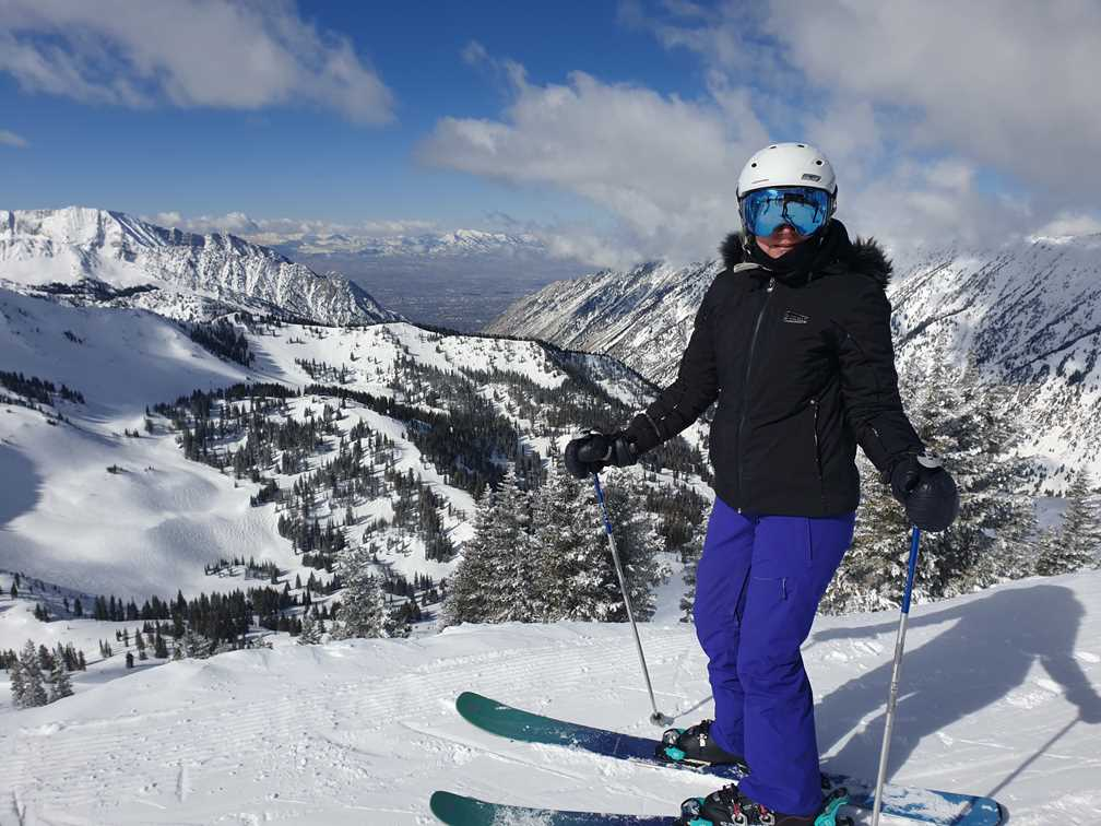 Skiing view early in our covid year