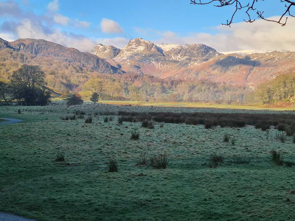 A view of the Langdales from Elter Water