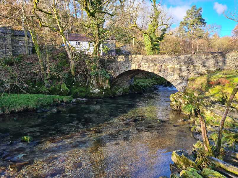 Bridge in Elterwater on a walk in the Lake District