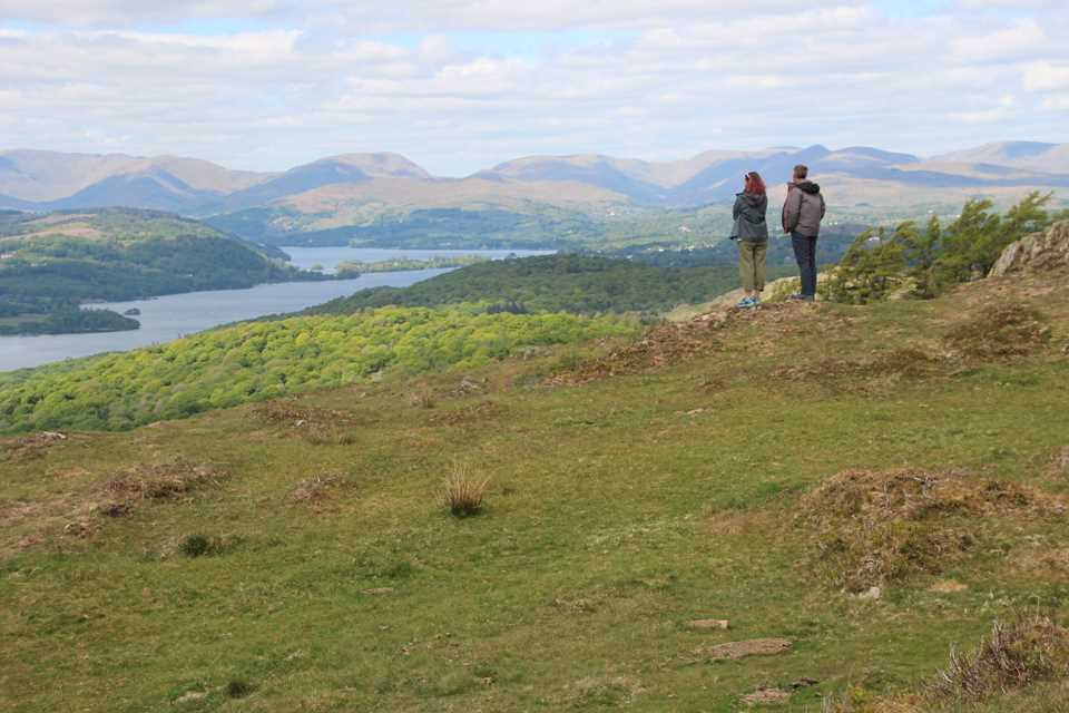 Looking over Windermere whilst hiking in Covid year