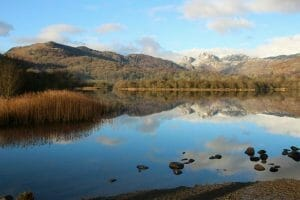 Reflection view over Langdales