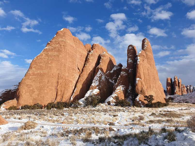 Rocky fins on one day visit to Arches NP