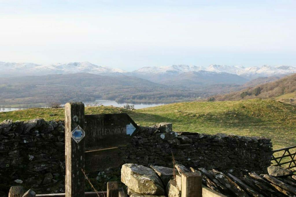 Views across Windermere on the way to Wansfell Pike