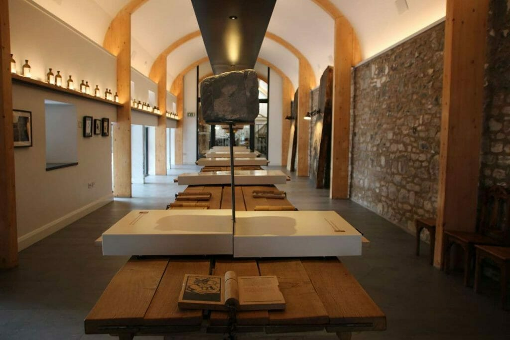 Inside Lindores Abbey Distillery