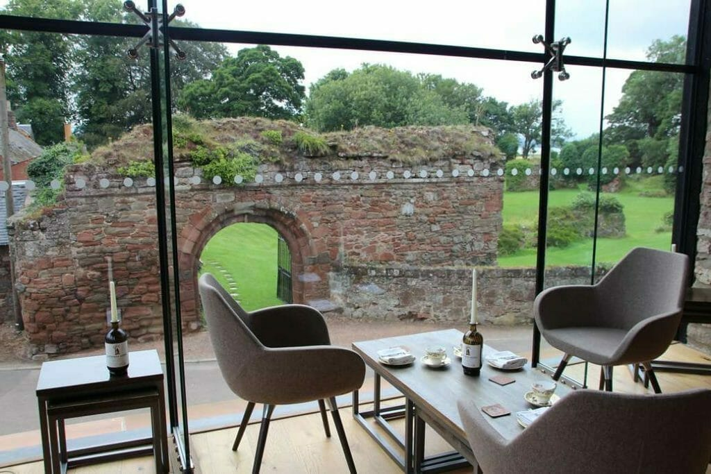 Looking out over the Abbey from the tasting room