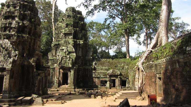 Temple with trees