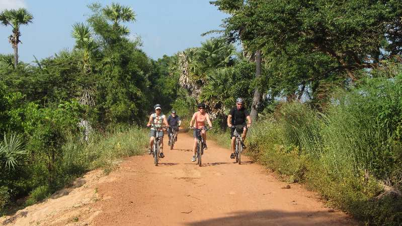 Cambodia by bike group