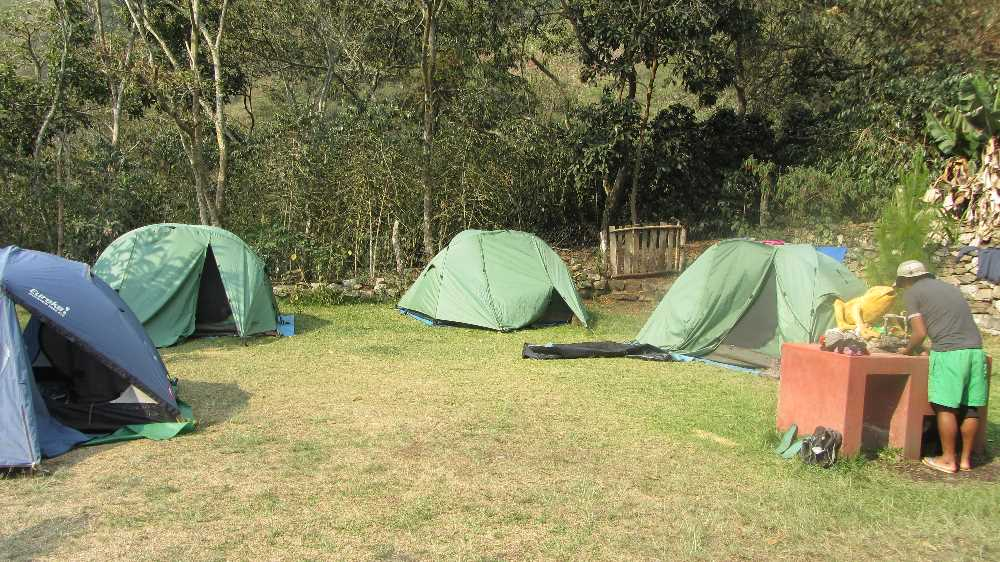 Our camp in the coffee farm