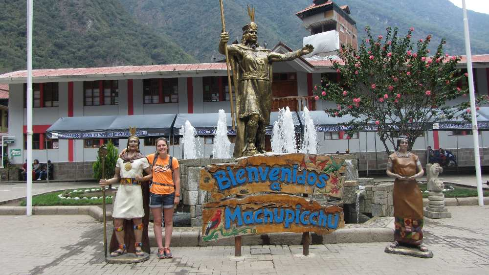 Becky in Aguas Calientes
