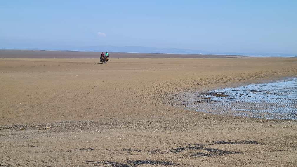 Beach near Silloth on the West Coast of Cumbria