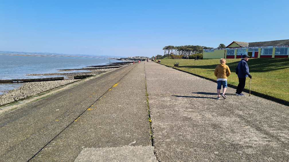 Promenade at Silloth on the west Coast of Cumbrian