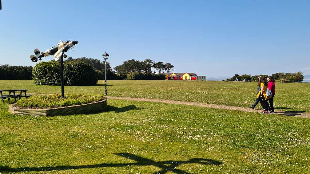 Silloth Green with model plane