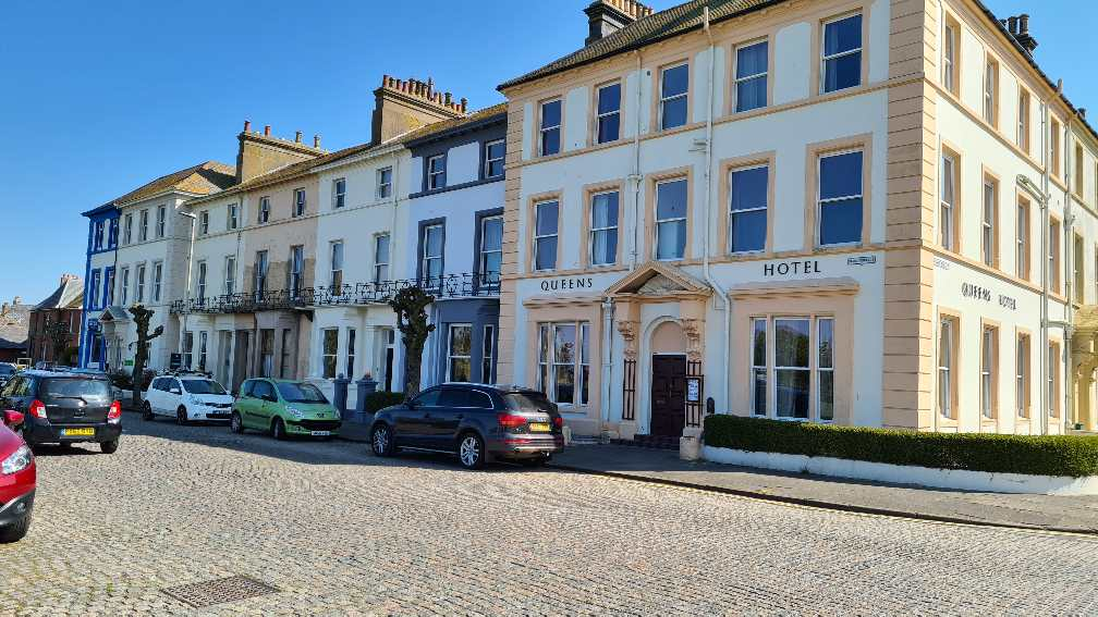 Street in Silloth with Victorian houses and hotels