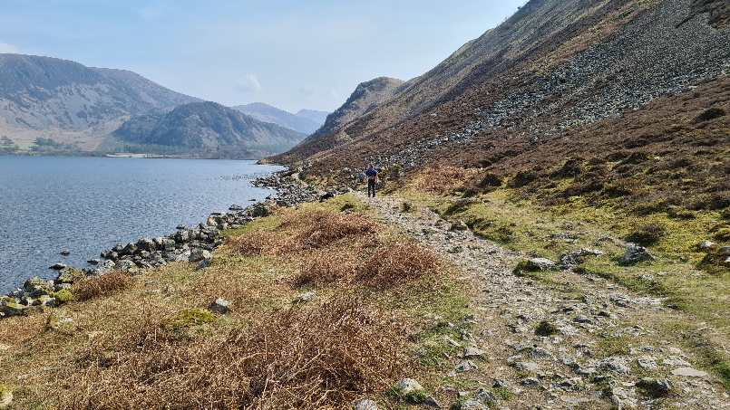The rocky path round Ennerdale Water