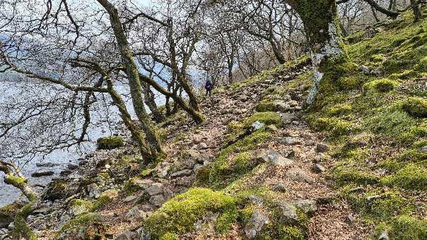 Rocky trail along Ennerdale shore