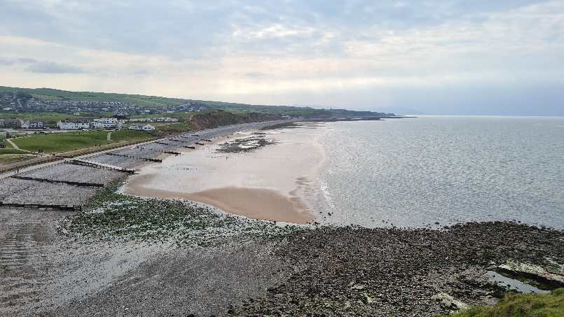 Overlooking the Beach at St Bees on the West Coast of Cumbria