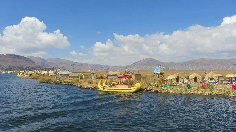 Uros Islands with reed boats